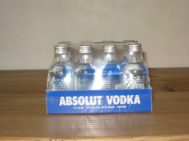 Vodka Absolute Mignon x 12